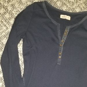 Hollister l.s. ribbed tee